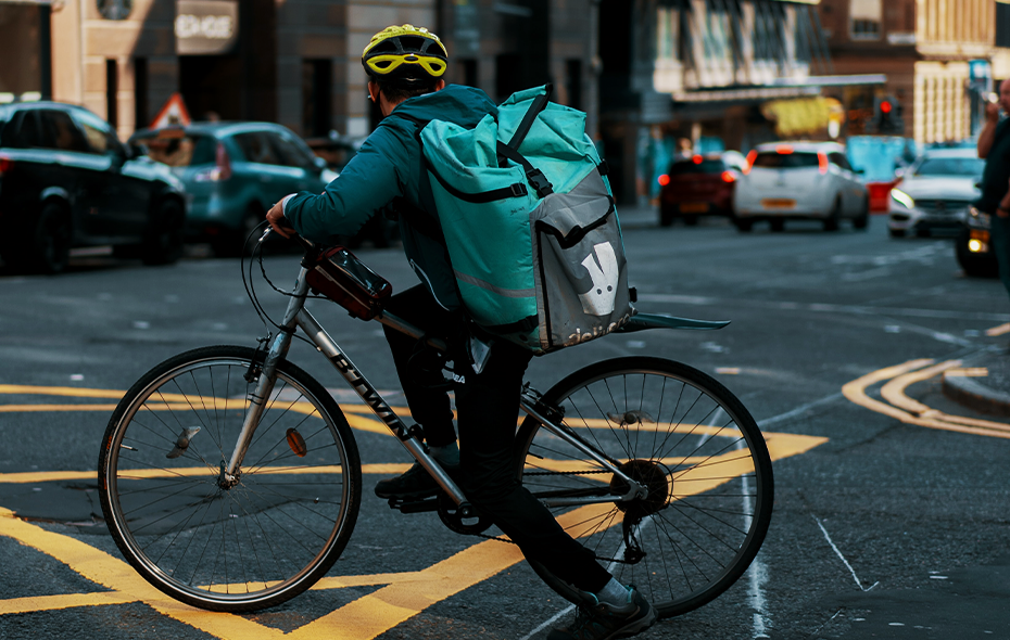 Food delivery booming during covid-19